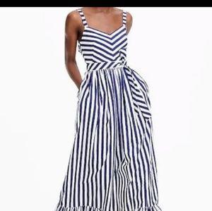 J.Crew Ruffled Stripped Maxi Dress